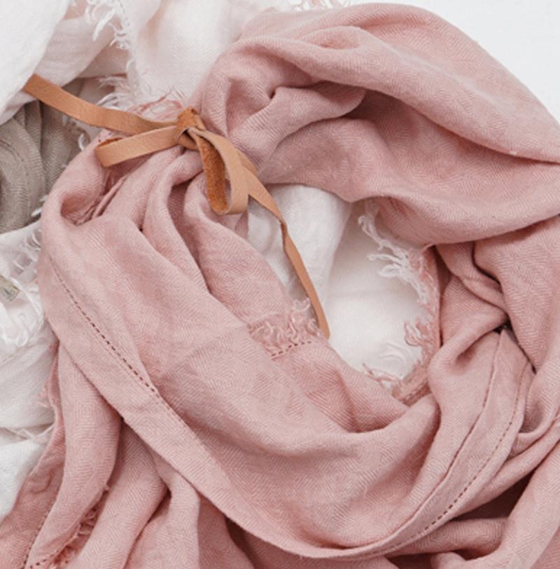 PimpsandPearls handgemaakte linnen sjaal