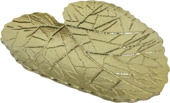 goud schaaltje blad