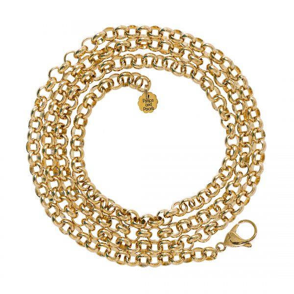 Jasseron gold plated grof 95 cm
