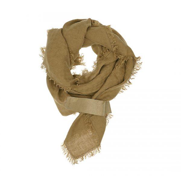 Linnen sjaal tabac bruin Dress2Kill