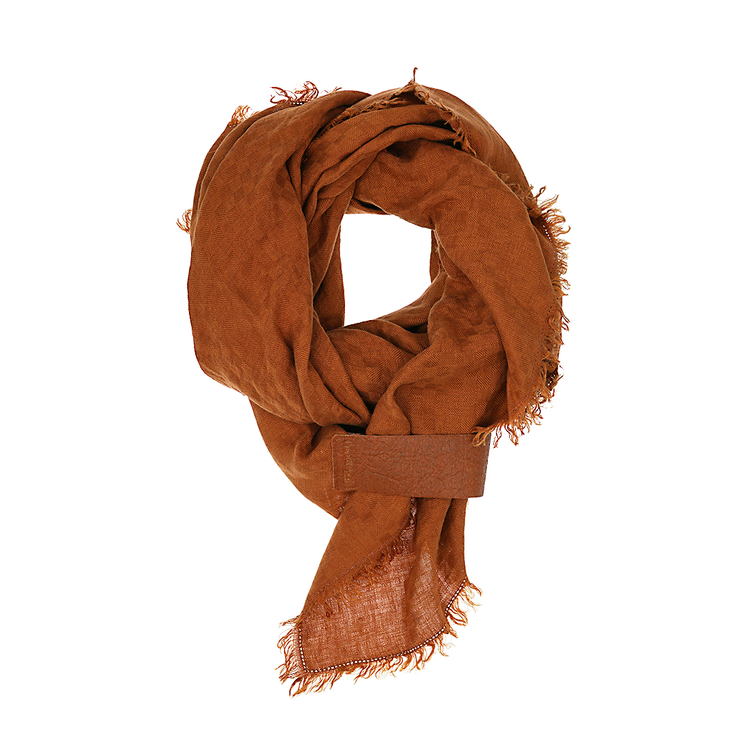 Linnen sjaal roest bruin Dress2Kill