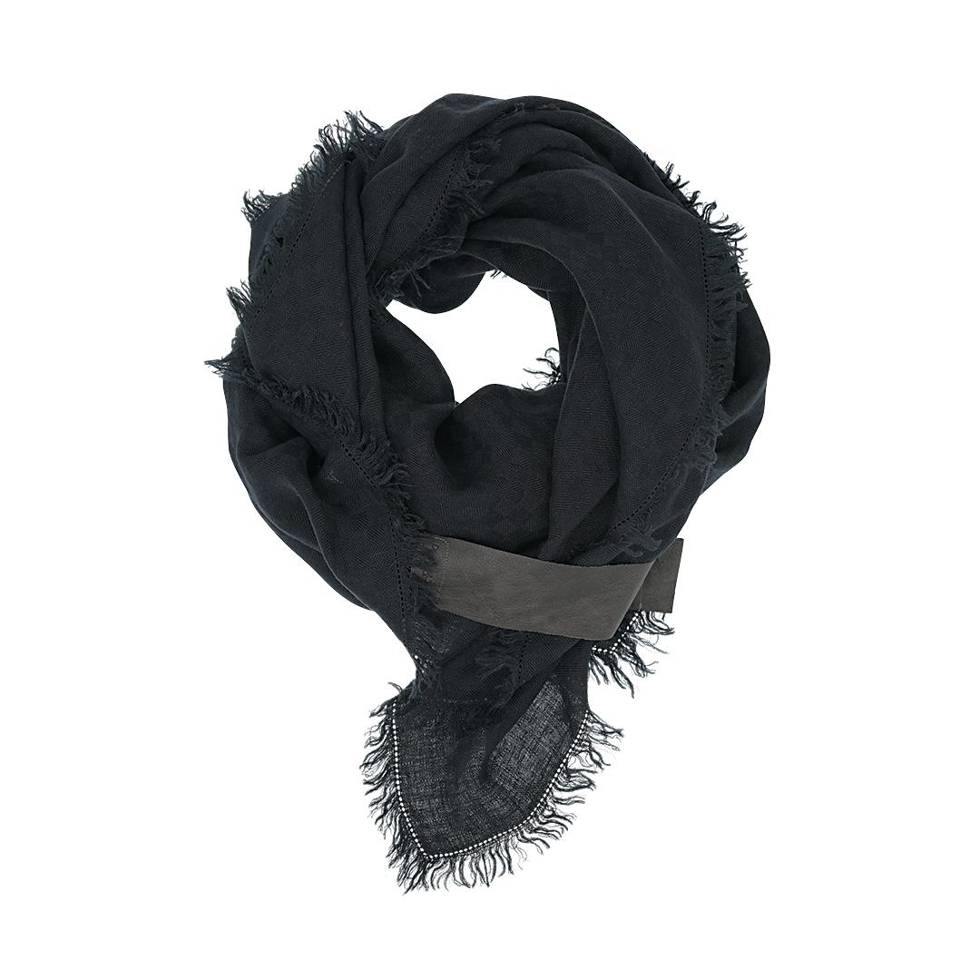 Linnen sjaal mat zwart Dress2Kill