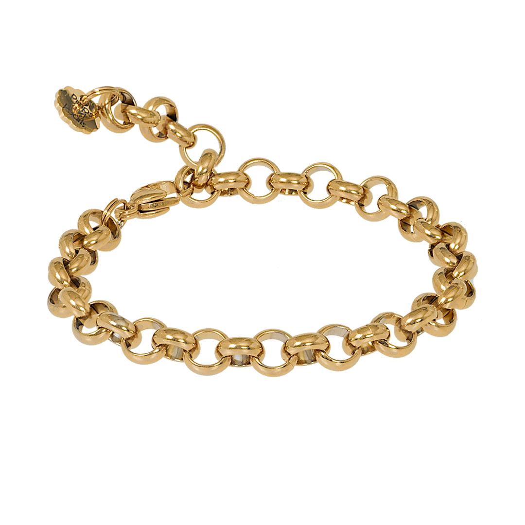 Verstelbaar schakel armband gold plated van PimpsandPearls