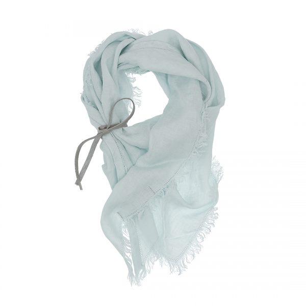 Linnen driehoek sjaal licht blauw Triangle Dress2Kill