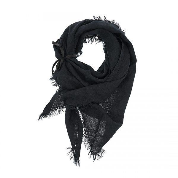 Linnen driehoek sjaal mat zwart Triangle Dress2Kill