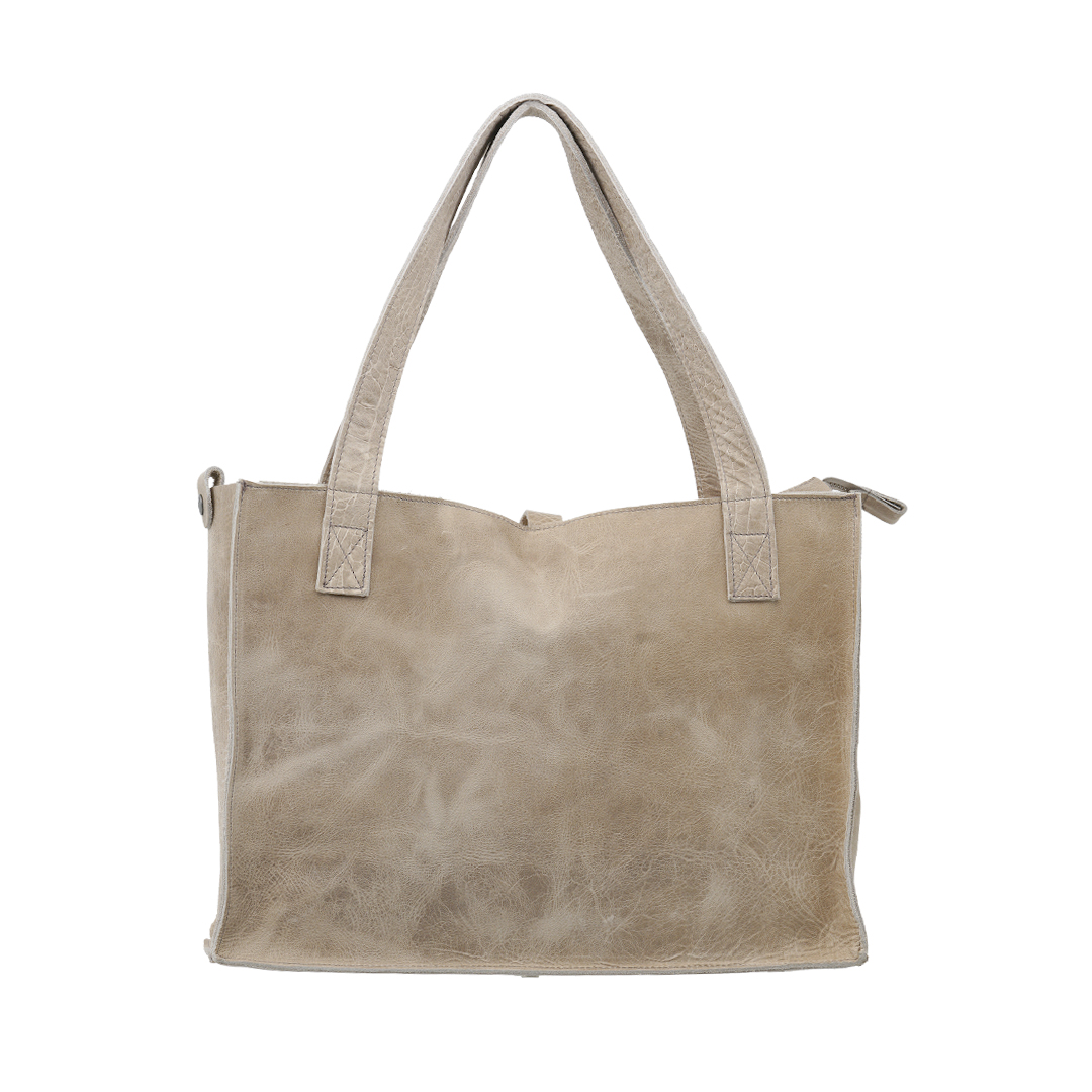 Handgemaakte lederen tas met ritz voorzien van binnenvak in prachtig Croco print