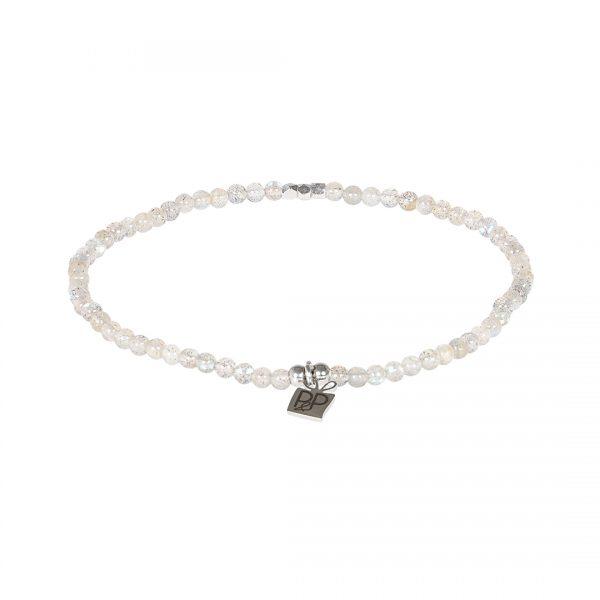 Edelsteen fijne armband Labradoriet grijs