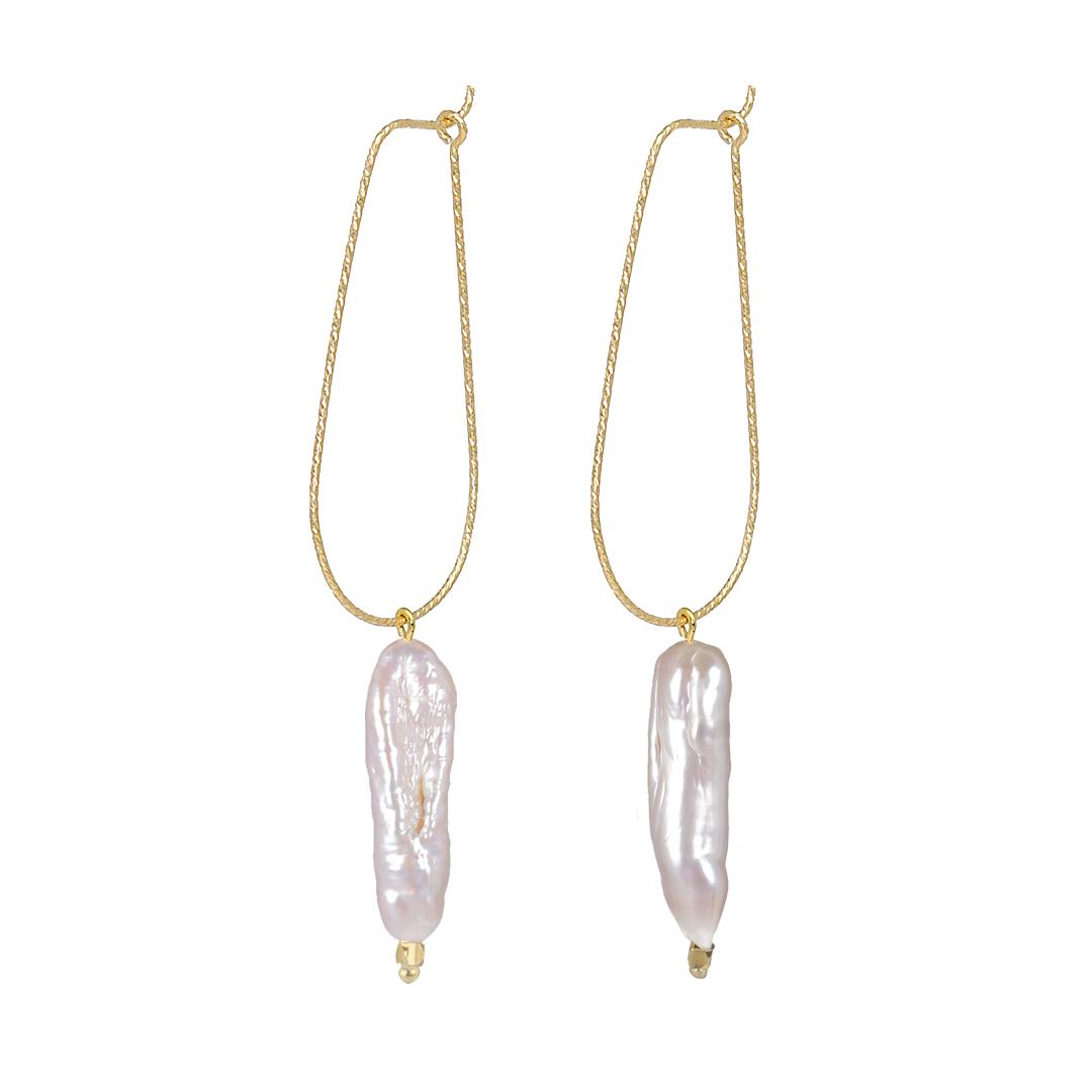 Edelsteen oorbellen goud Paarlemoer Parel drops Fruity Pearls