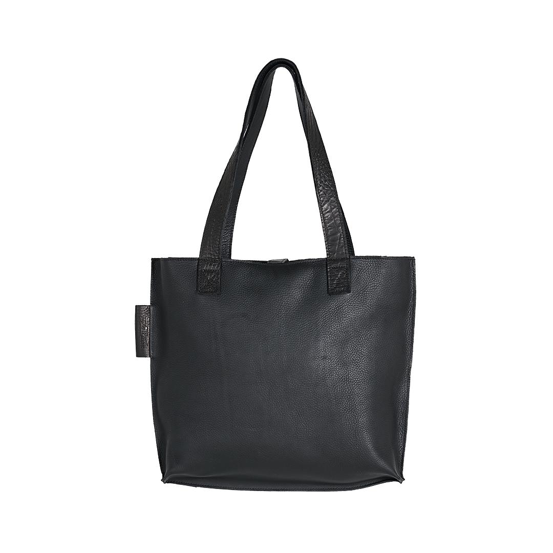 Leren dames tas Shopper Croco zwart New Look Tasss 12 A