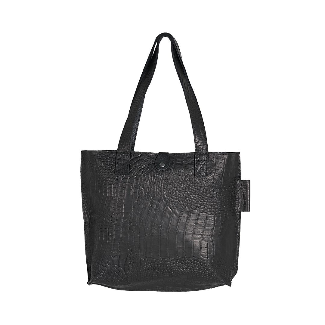 Leren dames tas Shopper Croco zwart New Look Tasss 12