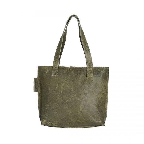 Leren dames tas Shopper Croco groen New Look Tasss 12 A