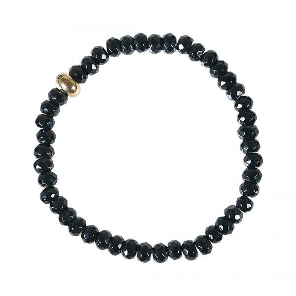 Edelsteen armband Facet zwart Onyx RoN