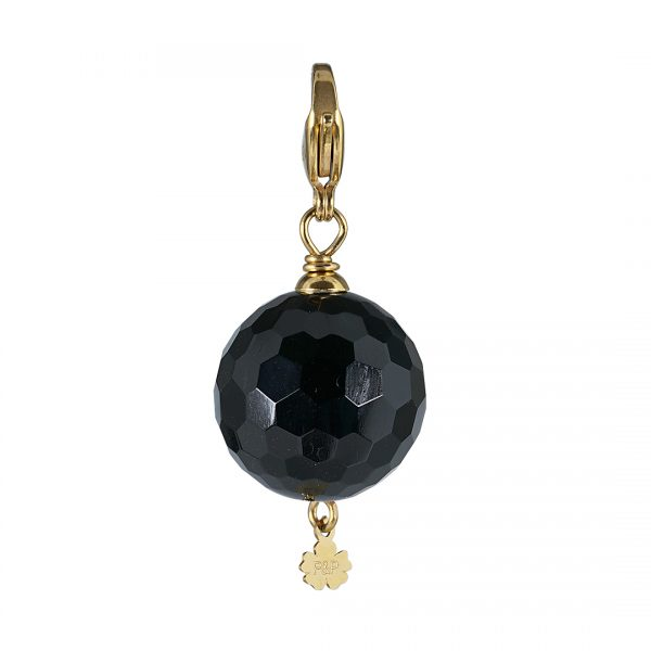 handgemaakte edelsteen bedel Maxi Rock zwart Obsidiaan