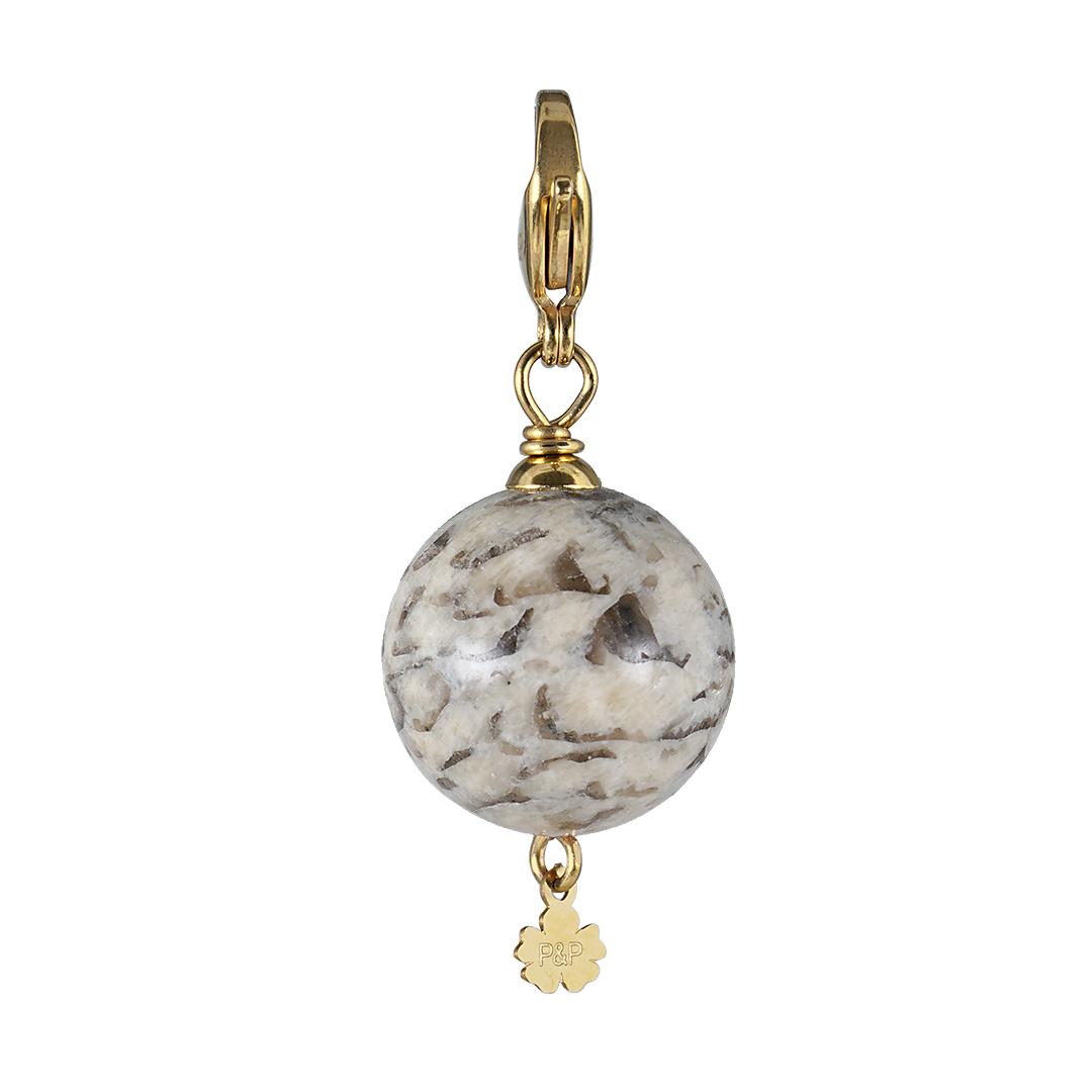 handgemaakte edelsteen bedel Maxi Rock beige Jaspis