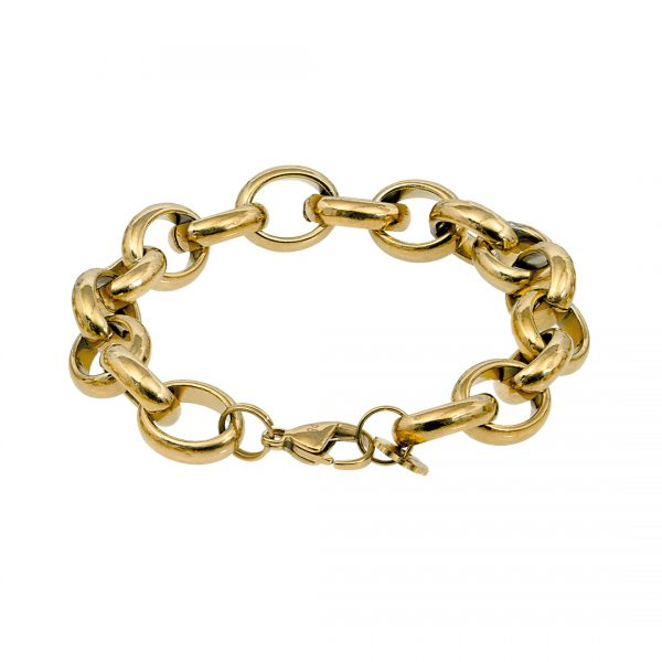 Edelstaal armband goud RoN