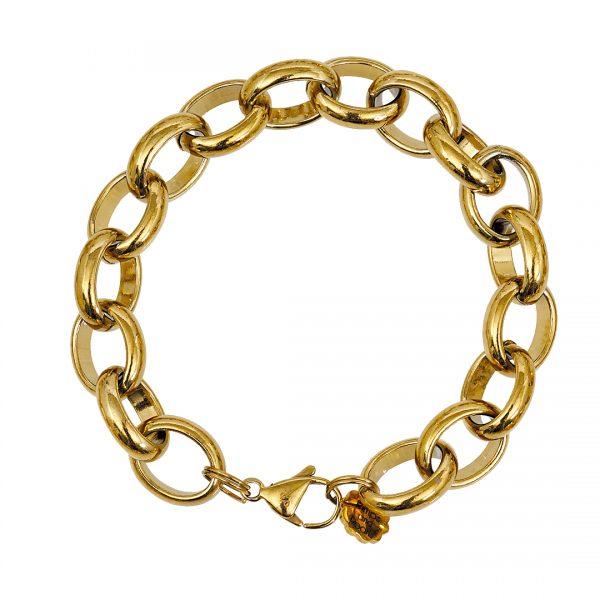 Edelstaal armband goud