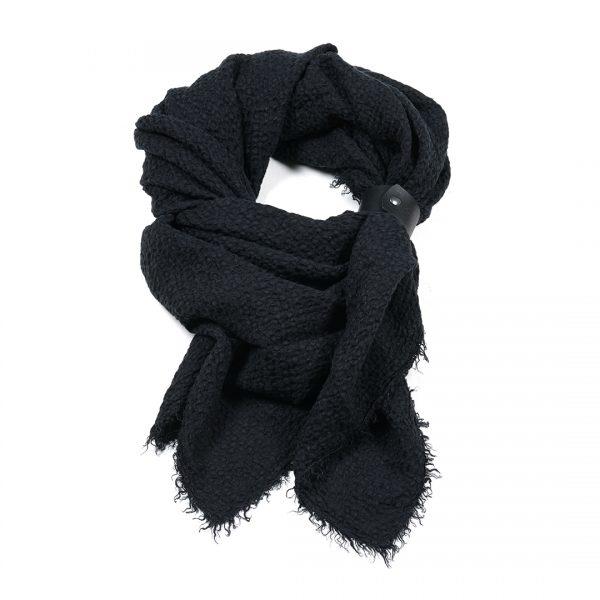 Linnen sjaal zwart vierkant Dress2Impress