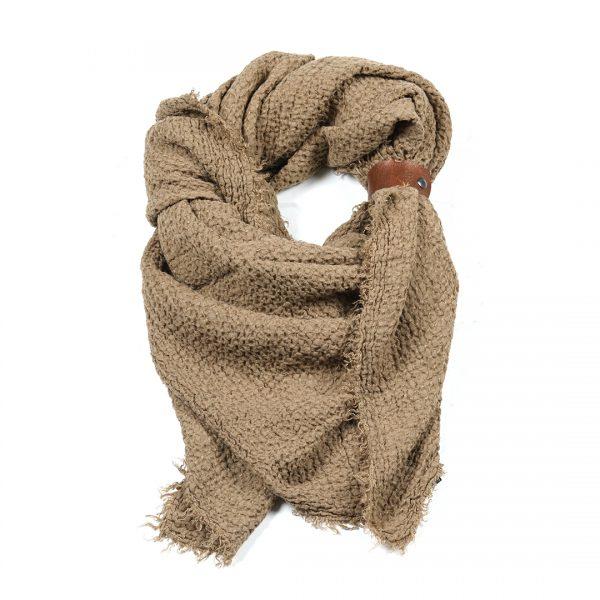 Linnen sjaal tabak vierkant Dress2Impress