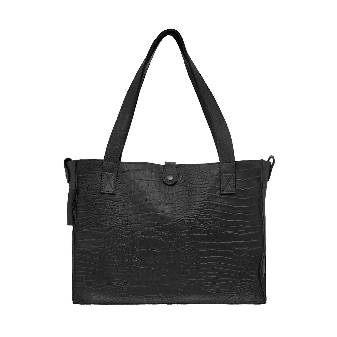 leren dames tass Croco zwart New Look Tasss 11