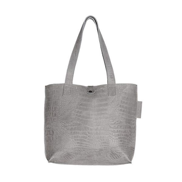 Lederen dames tas shopper Duo lichtgrijs New Look Tasss 12