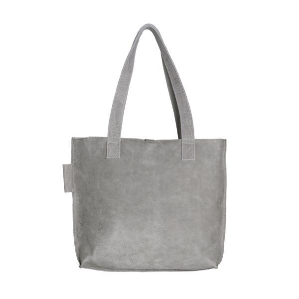 Lederen dames tas shopper Duo lichtgrijs New Look Tasss 12 B